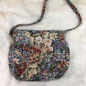 Homemade vintage needlepoint satchel bag purse